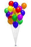 Bunch of balloons. A colorful arrangement of balloons with implied transparency Royalty Free Stock Photos