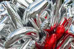 Bunch balloons. Abstract Bunch Helium balloons background Royalty Free Stock Photo