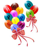 Bunch of balloons. Colorful balloons isolated on white vector illustration