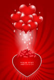 A bunch of balloons -  heart Stock Images