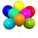 Bunch Of Balloons Shows Carnival Fiesta Or Royalty Free Stock Photography