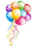 Bunch balloons. Vector illustration  Stock Images