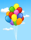 Bunch of balloons. Vector illustration of a bunch of balloons Stock Photography