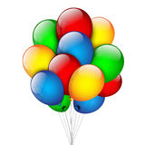 Bunch of balloons on a white background. Vector Stock Photo
