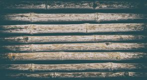 Bunch of Bamboo fence surface for texture background Stock Photography