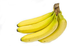 Bunch of bananas. A perfect bunch of bananas, this file comes with a clipping path Royalty Free Stock Image