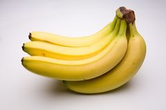 Bunch of bananas. On a white studio background Stock Photography