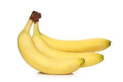 Bunch of bananas. Isolated on white background royalty free stock image