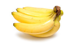 Bunch of bananas. On a white studio background Stock Images