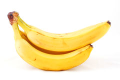 Bunch of bananas. Composition isolated on white background Royalty Free Stock Photos