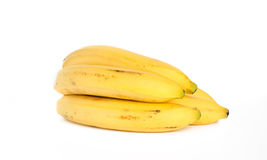 Bunch of bananas. On white background royalty free stock image
