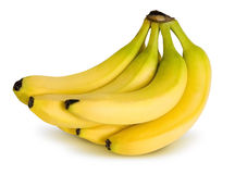 Bunch of bananas. A perfect bunch of bananas, this file comes with a clipping path royalty free stock photo