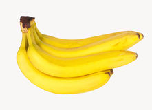 Bunch of bananas. Bananas isolated on white background + Clipping Path royalty free stock photo