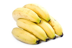 Bunch of bananas. On white background, isolated Royalty Free Stock Image