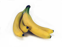 Bunch of Bananas. A bunch of bananas isolated on a white background royalty free stock images