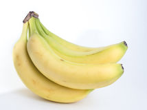 Bunch of Bananas. A bunch of bananas against a white background Stock Photo