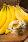 A bunch of bananas stock photo