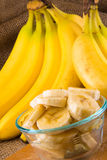 A bunch of bananas royalty free stock photo