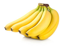 Bunch Of Bananas. Bananas. Bunch of fruits isolated on white background Royalty Free Stock Photos