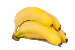Bunch of bananas. Isolated Royalty Free Stock Photos