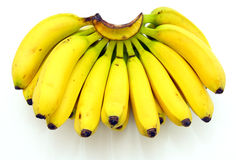 Bunch of bananas isolated Royalty Free Stock Images