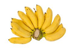 Bunch of bananas, isolated Royalty Free Stock Images