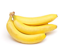 Bunch of bananas isolated on white Stock Images