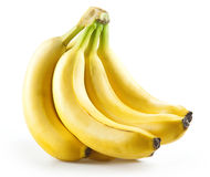 Bunch of bananas isolated on white. Background royalty free stock photos