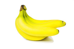 Bunch of bananas. Isolated on white background Stock Photo