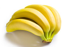 Bunch of bananas isolated on white Stock Image