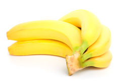 Bunch of bananas. Isolated on white background stock photos