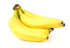 Bunch of bananas isolated on white background Stock Images