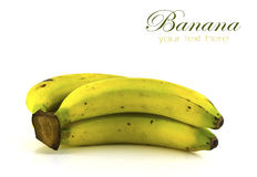 Bunch of bananas isolated Stock Images