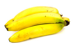 Bunch of bananas isolated on white background.  Royalty Free Stock Photography