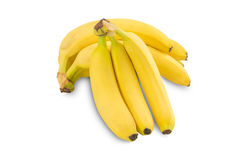 Bunch of bananas. Isolated on white background Royalty Free Stock Photography