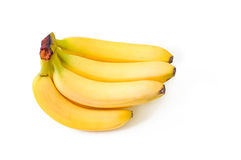 Bunch of bananas isolated on white background Royalty Free Stock Photos