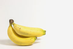 Bunch of bananas isolated on white background. Royalty Free Stock Photos