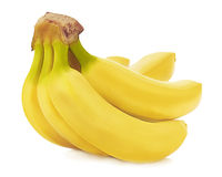 Bunch of bananas isolated on white background. Stock Photos