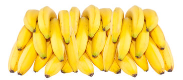 Bunch of bananas isolated on white poster background Stock Photo