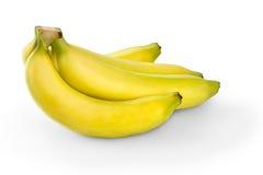 Bunch of bananas. Over white stock photos