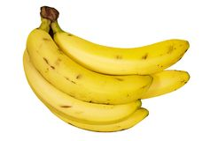 Bunch of Bananas (Path Included). Bananas on a white background. File contains clipping path Royalty Free Stock Image