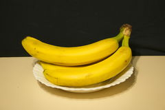 Bunch of bananas in a plate Royalty Free Stock Photos