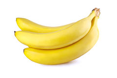 Bunch of bananas. Bunch of ripe bananas on white background royalty free stock photography