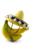 Bunch of bananas with sombrero Royalty Free Stock Photo
