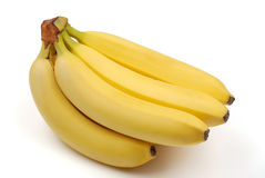 Bunch of bananas on white Royalty Free Stock Photography