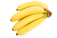 Bunch of bananas on white Stock Photography