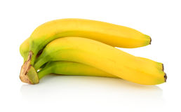Bunch of bananas on white background Royalty Free Stock Image