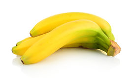 Bunch of bananas on white background Stock Image