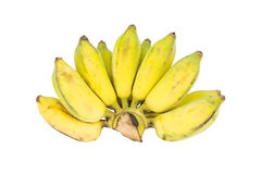 Bunch of bananas on white background Stock Photo