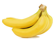 Bunch of bananas  on white background. Royalty Free Stock Photos